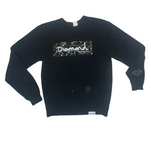 Diamond Supply Co spell out logo crew neck sweater